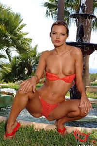 Suzie Carina Red Bikini 04
