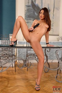 Zafira Masturbates With Huge Black Dildo 10