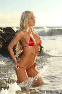 Hillary Red Bikini 03