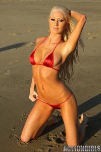 Hillary Red Bikini 14