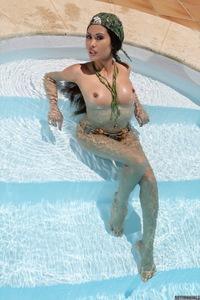 Danika Nude In The Pool 10