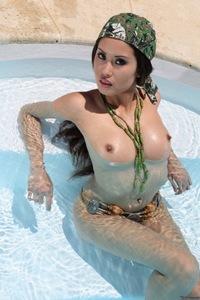 Danika Nude In The Pool 11