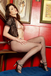 Aimee Sweet In Fishnet Pantyhose 01