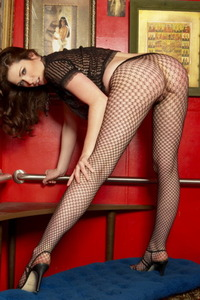 Aimee Sweet In Fishnet Pantyhose 15