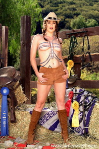 Aimee Sweet Posing In Hat And Boots 00