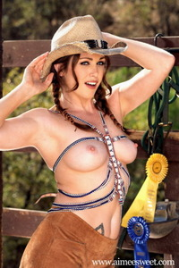 Aimee Sweet Posing In Hat And Boots 04