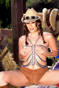Aimee Sweet Posing In Hat And Boots 06