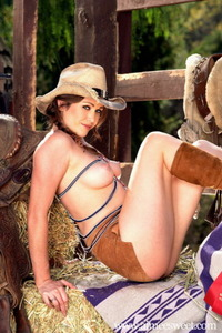 Aimee Sweet Posing In Hat And Boots 09