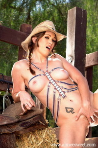 Aimee Sweet Posing In Hat And Boots 15