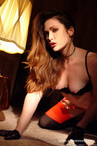 Aimee Sweet Black And Red Lingerie 03