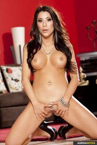Busty Babe Aleksa Nicole Plays With Dildo 01