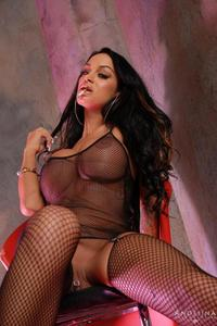Wild Slut Angelina In Fishnet 03