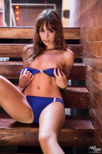 Ariel Rebel Drops Her Blue Bra And Panties 09