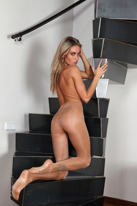 Veronika Fasterova Shiny Pantyhose 03