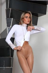 Veronika Fasterova Shiny Pantyhose 09
