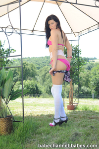 Sexy Babe Chloe James Naked In The Garden 04