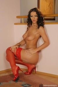 Fucking Hot Angel Dark In Red Lingerie And Heels 08