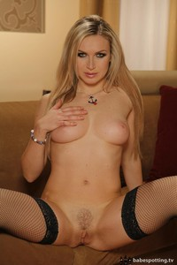 Alena Chayness Posing In Stockings 01