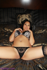 Babi Syn Leopard Bra And Sexy Stockings 00