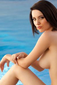 Breathtaking Nude Ana Karoline Poolside 08