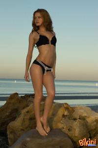 Adorable Brunette Bikini Tease 03