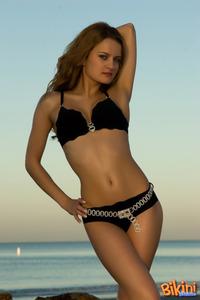 Adorable Brunette Bikini Tease 05