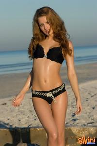 Adorable Brunette Bikini Tease 08