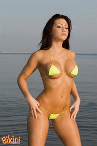 Brunette Babe Posing In Tiny Hot Bikini 07