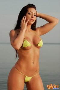 Brunette Babe Posing In Tiny Hot Bikini 12
