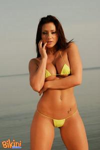 Brunette Babe Posing In Tiny Hot Bikini 13