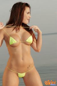 Brunette Babe Posing In Tiny Hot Bikini 14