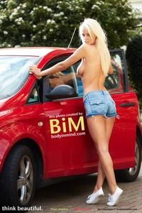 Amazing Blond Babe Rhian Sugden Presenting Her Nice Big Boobs 00