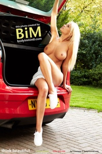 Amazing Blond Babe Rhian Sugden Presenting Her Nice Big Boobs 12