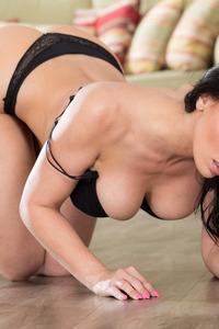 Rachel Starr In Sexy Black Dress 09