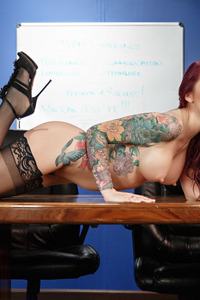 Monique Alexander Strips In The Office 07