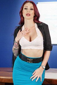 Monique Alexander Strips In The Office 08