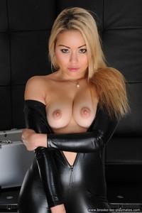 Blond Beauty Petra Strips Nude 06