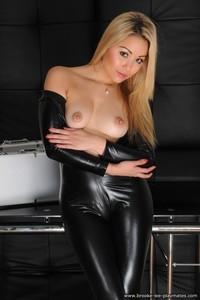 Blond Beauty Petra Strips Nude 07