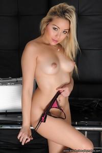 Blond Beauty Petra Strips Nude 12