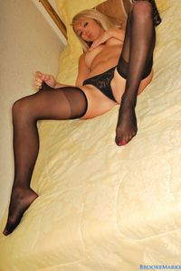 Brooke Marks Black Stockings 03