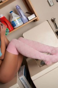 Cali Logan Horny In The Laundry Room 12