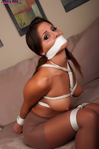 Cali Logan Tied Up In Pantyhose 01