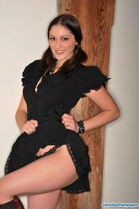 Carlotta Champagne Black Dress And Boots 01