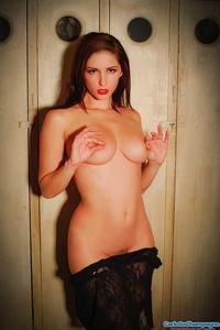 Sexy Babe Carlotta In Black Lingerie 05