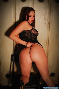 Sexy Babe Carlotta In Black Lingerie 08