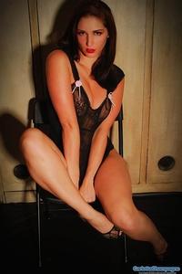 Sexy Babe Carlotta In Black Lingerie 09