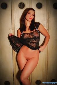 Sexy Babe Carlotta In Black Lingerie 11
