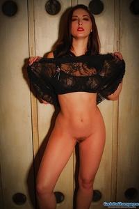 Sexy Babe Carlotta In Black Lingerie 13