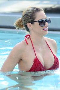 Jennifer Nicole Lee Red Bikini Photos 01