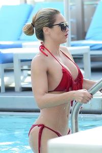Jennifer Nicole Lee Red Bikini Photos 05